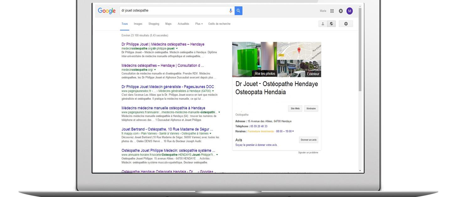 Votre visibilité dans Google