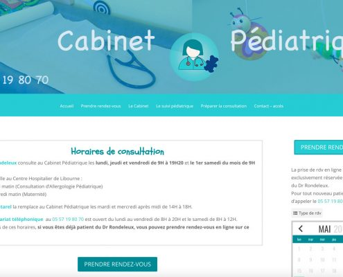 site pediatre à Libourne