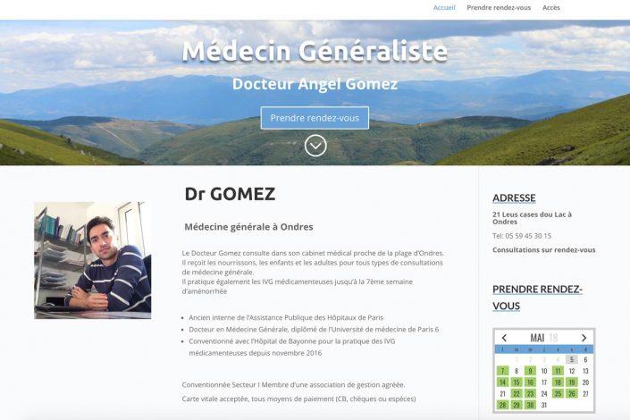 Portfolio site web medecin avec rendez-vous en ligne