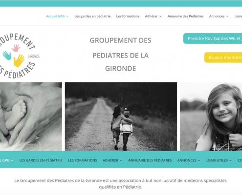 Site internet avec gestion des rendez-vous de garde pédiatres gironde