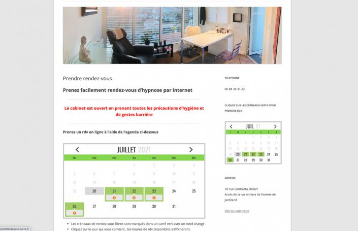 Mockup page rendez-vous site internet
