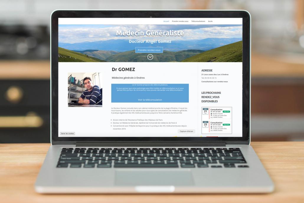 creation de site internet medecin généraliste landes