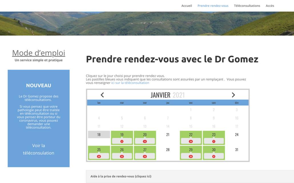 WordPress - Portfolio page de rendez-vous médecin