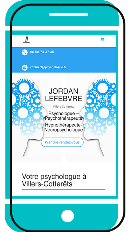 Mobile Mockup site web psychologue