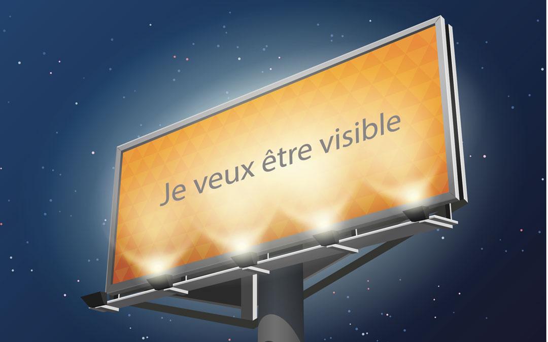 panneau d'affichage visibilité
