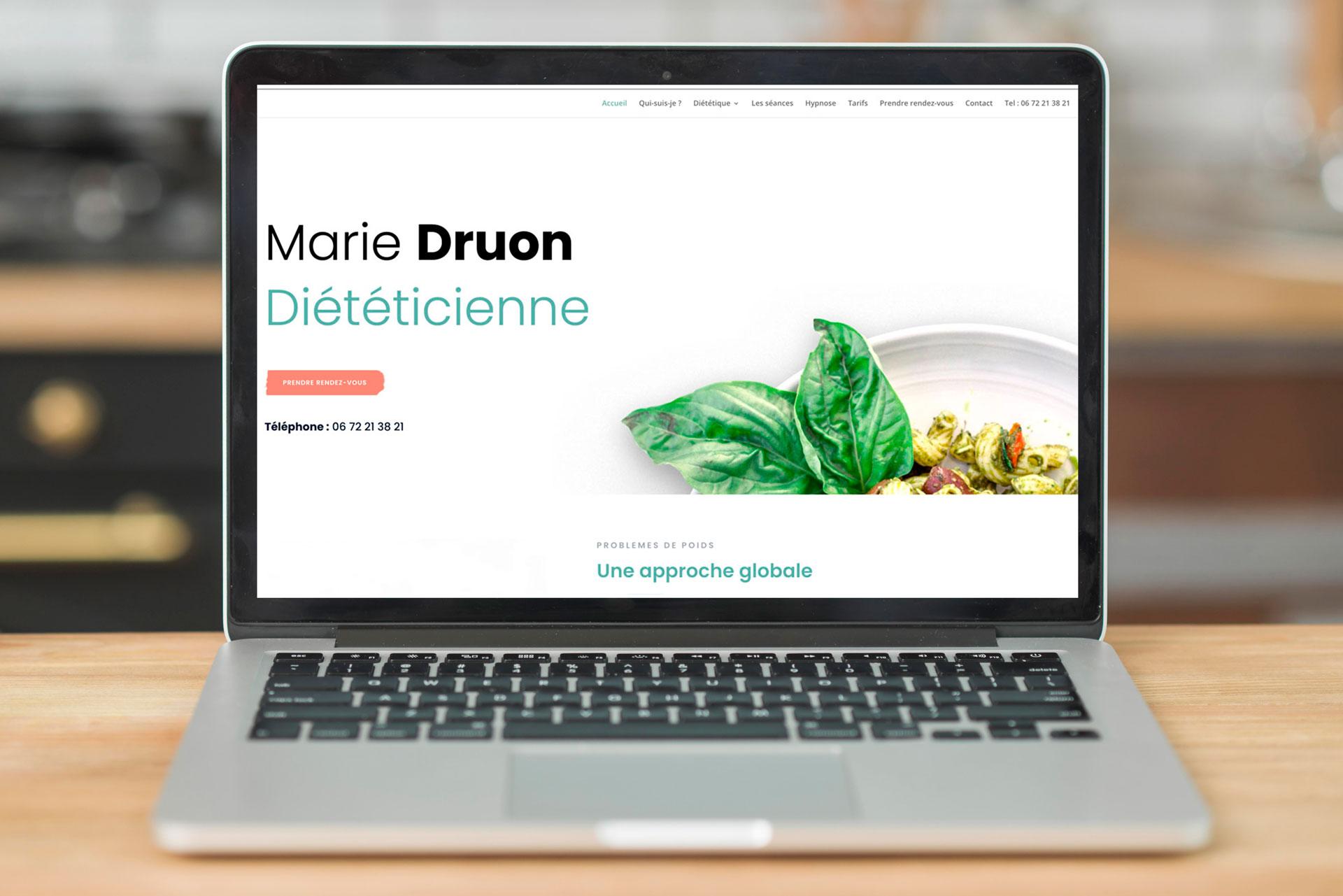 Exemple de site pour diétéicienne dans l'Ain