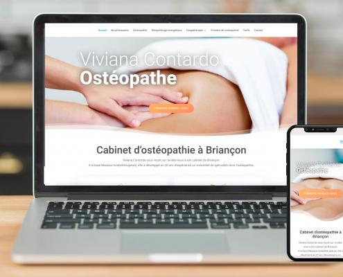 Exemple de site web avec prise de rendez-vous pour ostéopathe